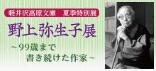 夏季特別展「野上弥生子展~99歳まで書き続けた作家~」